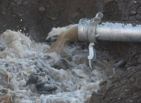 water pump in hydraulic engineering and construction of water supply
