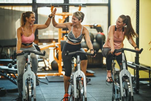 Bike training at the gym