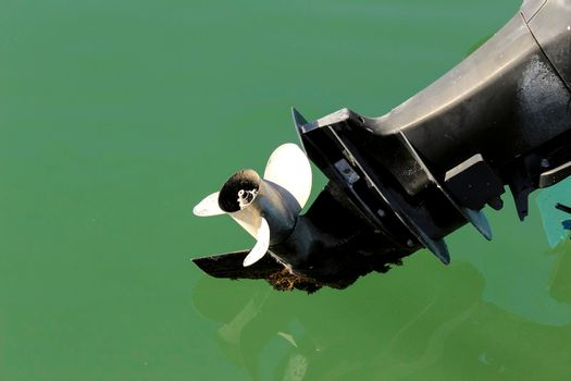 Old and powerful outboard motor