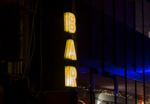 a bar sign, place for getting alcoholic drinks and cocktails
