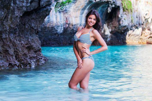 Woman on thai beach
