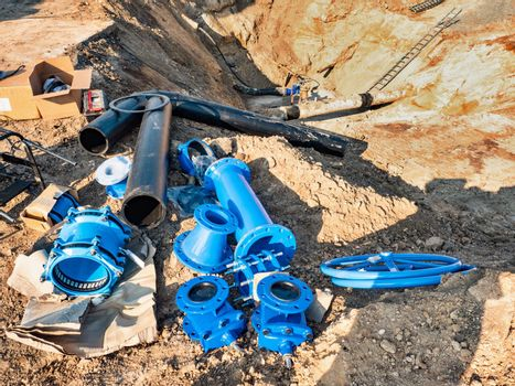Assembly process piping parts, city drink water supply pipeline