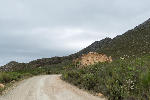 Ruins of the historic toll house on the Swartberg Pass