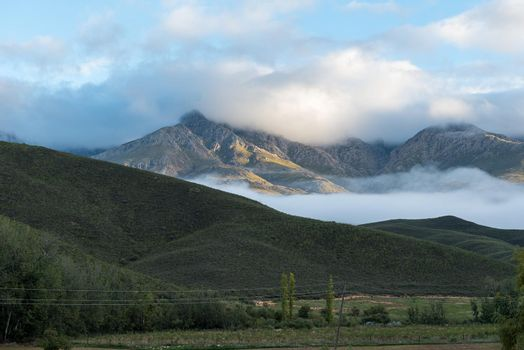View of the Swartberg Mountains at Kruisrivier