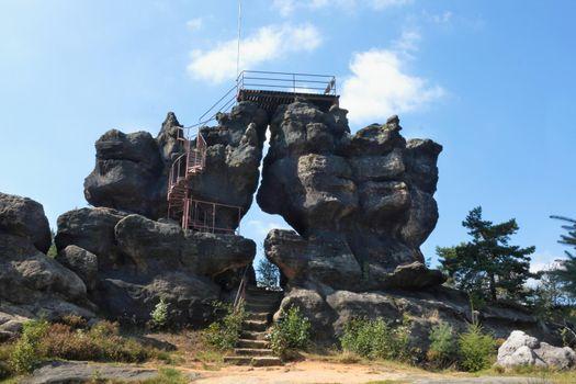 Natural stone gate near Oybin