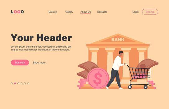 Bank customer getting loan