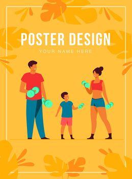 Family sport activity concept