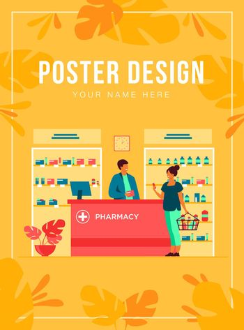 Pharmacy or medical shop concept