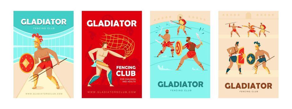 Trendy poster designs with Coliseum gladiators