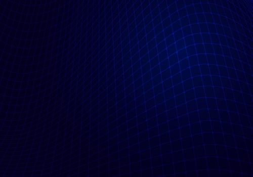 Abstract blue mesh grid network on dark background technology digital concept