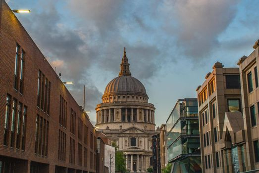 Famous St. Paul's Cathedral church, London, United Kingdom.