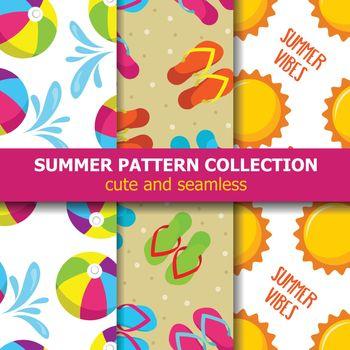 summer pattern collection. Beach theme. Summer banner