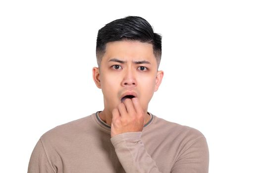 man with surprise and shocked facial expression