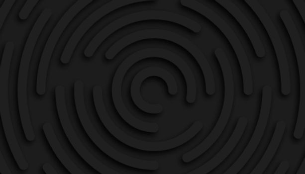 abstract black circular shape background