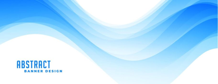 abstract blue wavy banner template