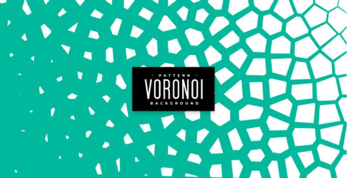 abstract voronoi pattern background in turquoise color