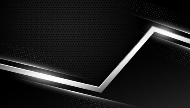 black background with silver geometric lines