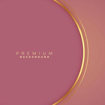 clean golden circular lines background