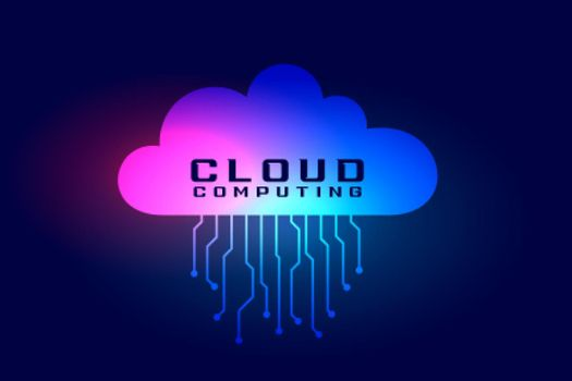 cloud computing background with tech lines