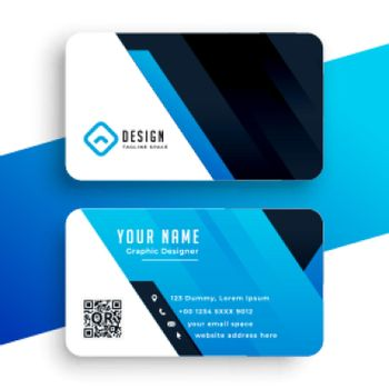 corporate business card in blue color