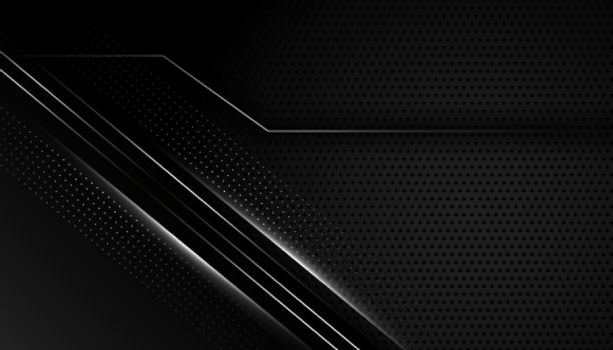 dark black background with silver lines