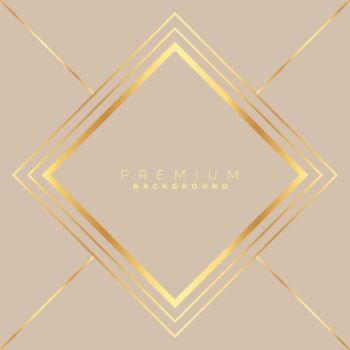 diamond shape golden frame background