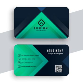 doctors business card in turquoise color