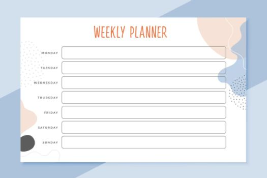 elegant weekle planner schedule template