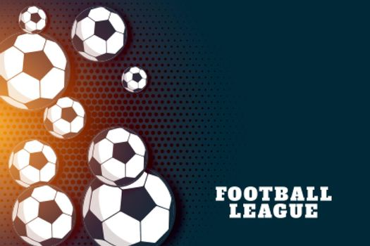 football league background with many soccer balls