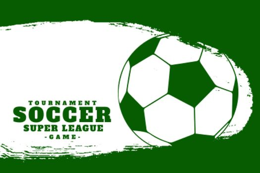 football soccer league sports background