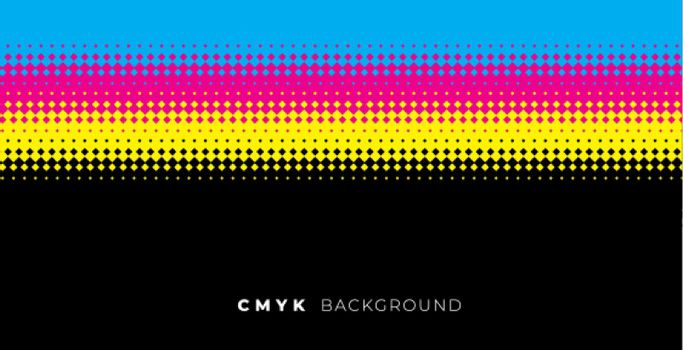 halftone background with cmyk colors
