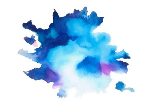 hand painted natural blue watercolor texture background