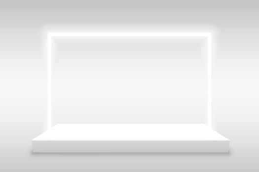 product display background with light frame