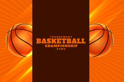 realistic basketball championship tournament background
