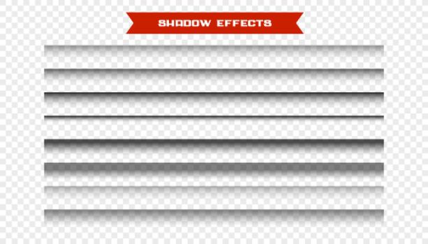 realistic paper shadow effects set