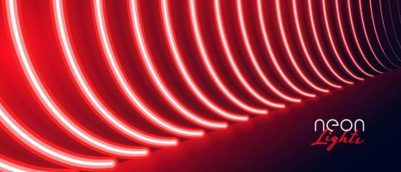 red neon pathway floor light effect banner