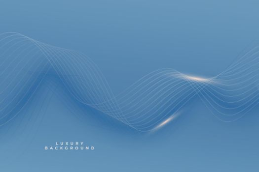 royal blue premium background with shiny smooth lines