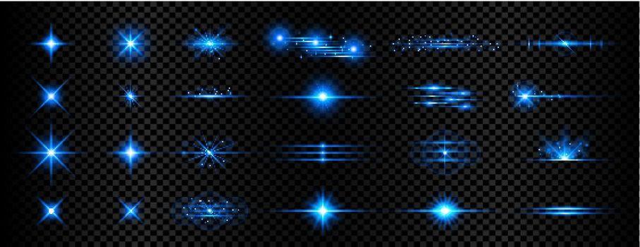 sparkle blue transparent light effect lens flare background