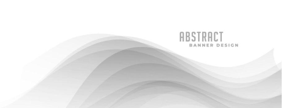 stylish grey wavy smooth banner design