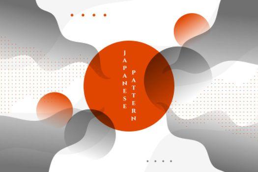 stylish japanese wavy abstract background