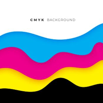 wave style cmyk flowing colors background