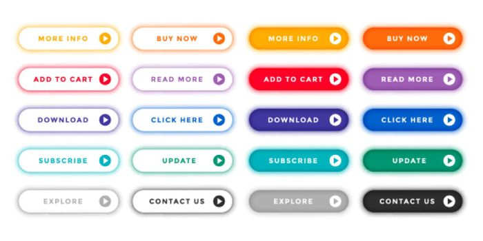 web buttons collection for different purposes