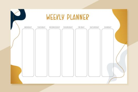 week plan template for everyday