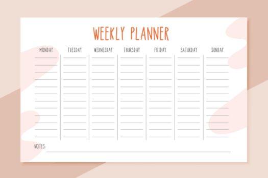 Weekly Planner Templates (Vector)