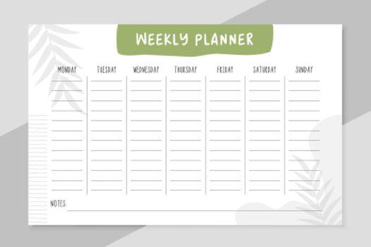 weekly todo list organizer template design