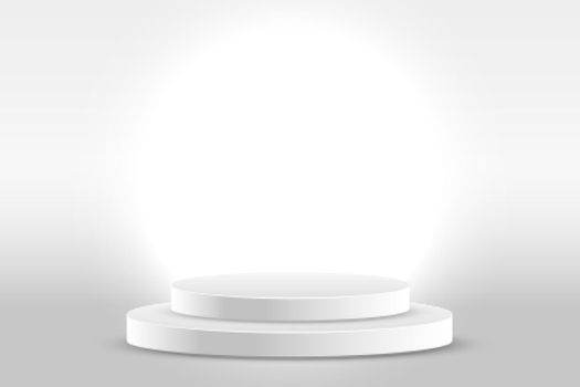 white studio background with product display