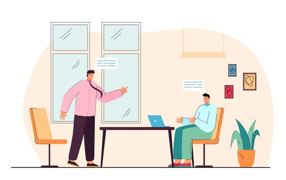 Argument between businessmen at meeting