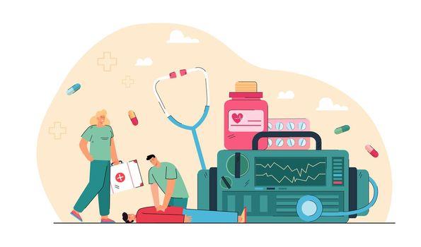 Emergency cardiopulmonary resuscitation