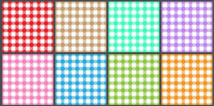 A set of seamless multi-colored backgrounds for posters, banners, postcards and creative design. Stock vector illustration.