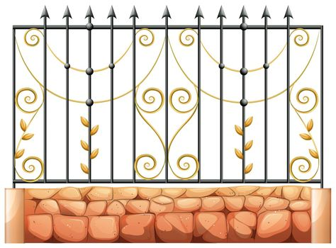 A gate made of pointed steel